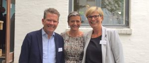 Jens Lunn and Annemette Broch of Data for Good Foundation with Margrethe Vestager