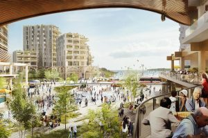 Artist's impression of Sidewalk Labs' Quayside development